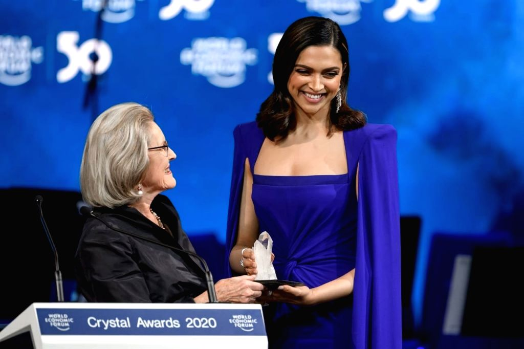 Bollywood star Deepika Padukone was felicitated with the Crystal Award at the World Economic Forum for her contribution to mental health awareness. While accepting the award, Deepika opened up about her own experience with mental illness and how it d - Deepika Padukone