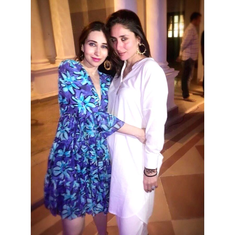 "Bollywood star Kareena Kapoor cut the birthday cake on September 21. In a viral video, Kareena's husband Saif Ali Khan, son Taimur and sister Karisma Kapoor are among guests wishing the ""Veere ... - Kareena Kapoor, Saif Ali Khan and Karisma Kapoor"