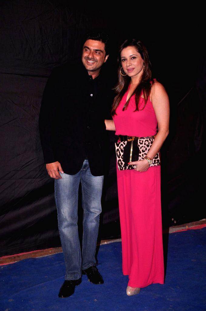 Bollywood star Neelam Kothari and Sameer Soni at Indian Telly Awards in Mumbai.