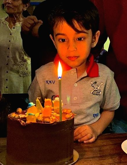 """Bollywood superstar Salman Khan's nephew turned four on Monday and the """"Khan-daan"""" celebrated it with full pomp at home amid quarantine. Ahil is the son of Salman's younger sister Arpita and actor Ayush Sharma. Atul Agnihotri, who is married to Salma - Ayush Sharma and Salman Khan"""