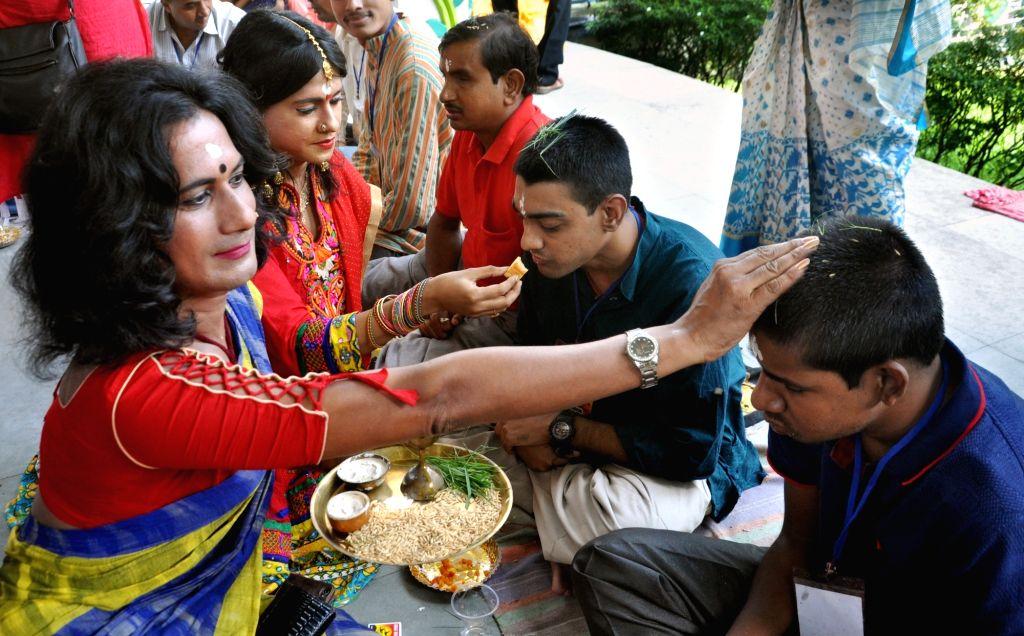Bon Phota' celebrations underway in Kolkata on Oct 28, 2019.