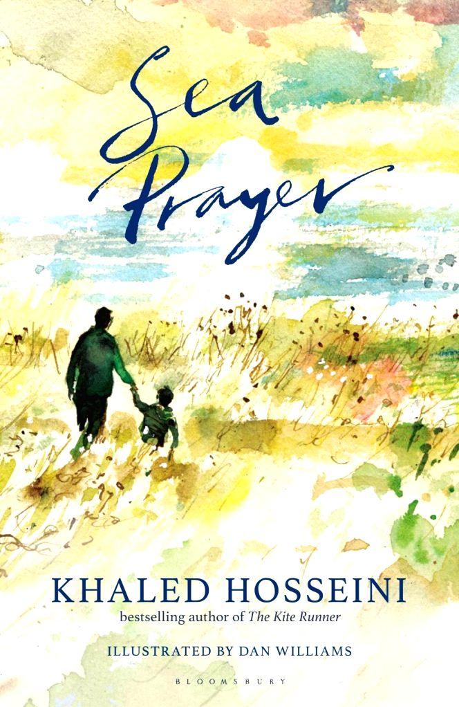 "Book cover of Khaled Hosseini's latest book ""Sea Prayer""."