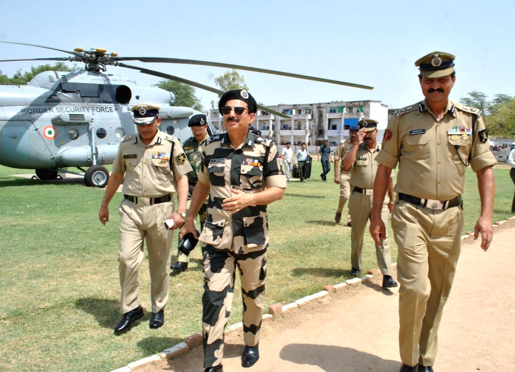 Border Security Force (BSF) Director General K K Sharma during his visit to Mathura on May 28, 2017. - K K Sharma
