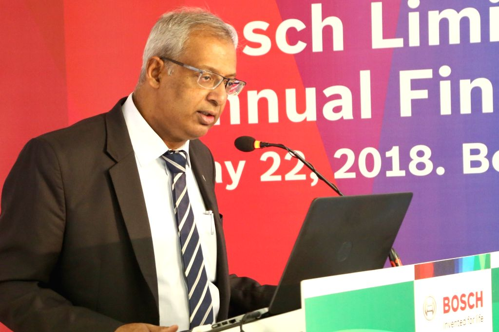 BOSH Ltd MD Soumitra Bhattacharya addresses a press conference in Bengaluru, on May 22, 2018.