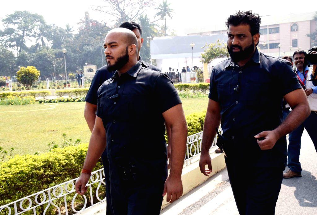 Bouncers who accompanied RJD leader Tej Pratap Yadav to Bihar Assembly in Patna on Feb 13, 2019. - Tej Pratap Yadav