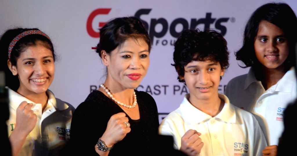 Boxer M.C. Mary Kom at the launch of 'Stars of Tomorrow' (SOT) - an athlete support programme introduced by Indian Federation of Sports Gaming (IFSG) in Mumbai, on Dec 5, 2018. - Mary Kom
