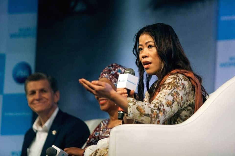Boxer Mary Kom speaks about what it means to share the load and enable each other's success as part of a panel discussion at P&G India's inaugural # WeSeeEqual Summit in partnership with ... - Mary Kom