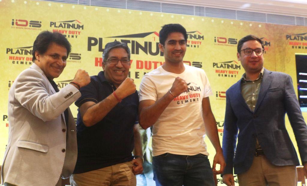 Boxer Vijender Singh during a press conference in New Delhi on July 18, 2019. - Vijender Singh
