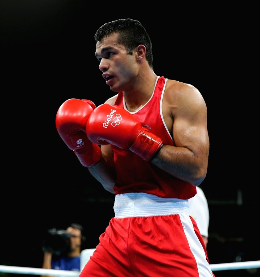 Boxer Vikas eyes Pro bouts in USA to prepare for Olympics. (Photo: Seshadri Sukumar/IANS)