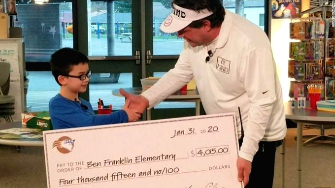 Boy paid off the lunch debt for his entire school, Twitter applauds.