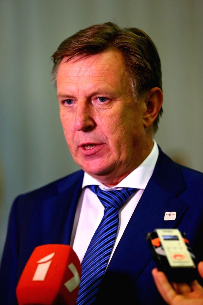 BRATISLAVA, Sept. 17, 2016 - Latvian Prime Minister Maris Kucinskis attends a press conference after an informal European Union (EU) summit in Bratislava, Slovakia, Sept. 16, 2016. EU members on ... - Maris Kucinskis