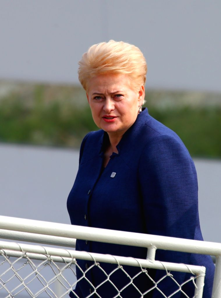 BRATISLAVA, Sept. 17, 2016 - Lithuanian President Dalia Grybauskaite arrives at a wharf by the Danube river on the sidelines of an informal European Union (EU) summit in Bratislava, Slovakia, Sept. ... - Robert Fico