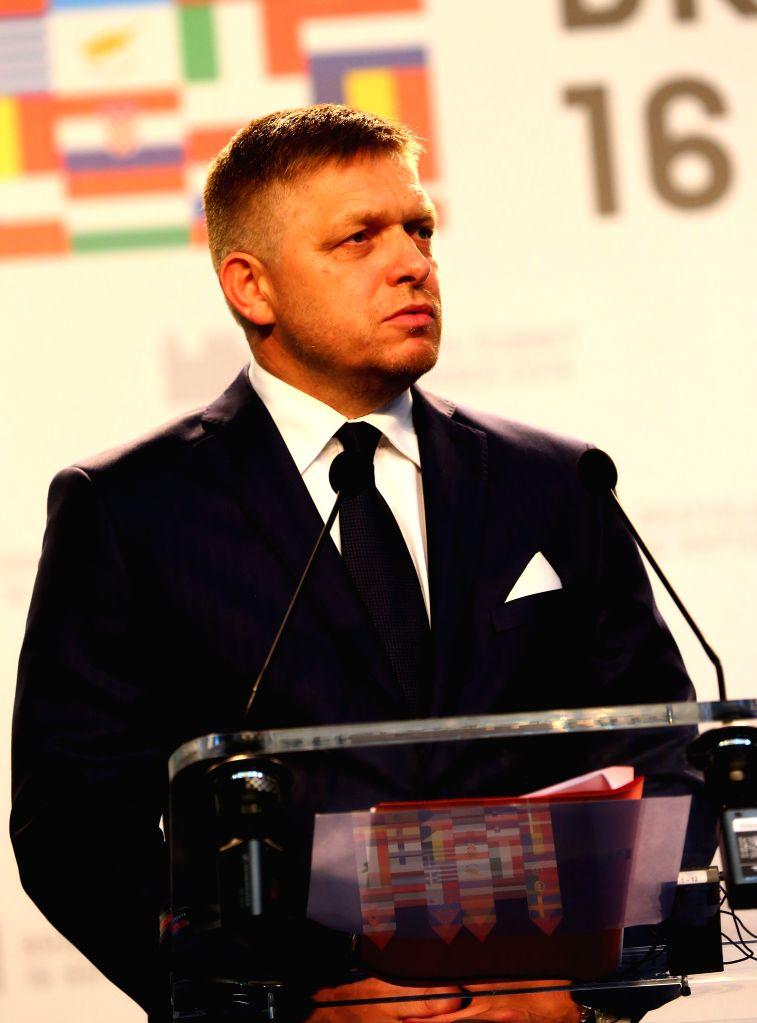 BRATISLAVA, Sept. 17, 2016 - Slovak Prime Minister Robert Fico speaks at a press conference after an informal European Union (EU) summit in Bratislava, Slovakia, Sept. 16, 2016. EU members on Friday ... - Robert Fico