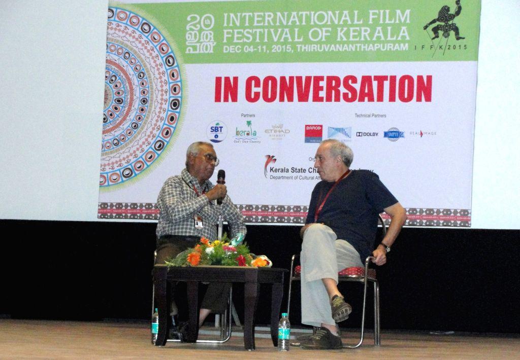 Brazilian director Julio Bressane at the International Film Festival of Kerala. (Photo: Prantick Majumder/IANS)