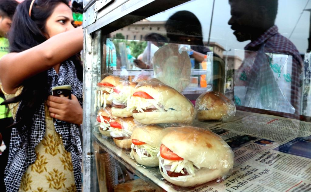 Bread being sold at a roadside eatery in New Delhi, on May 26, 2016. A report released by Centre for Science and Environment (CSE) on 23rd May 2016 says Indian bread manufacturers use ...