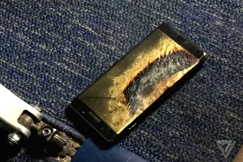Brian Green is the owner of the replacement Samsung Galaxy Note 7 phone that caught fire on a US flight, leading to cancellation of the flight after evacuation. Photo: The Verge.