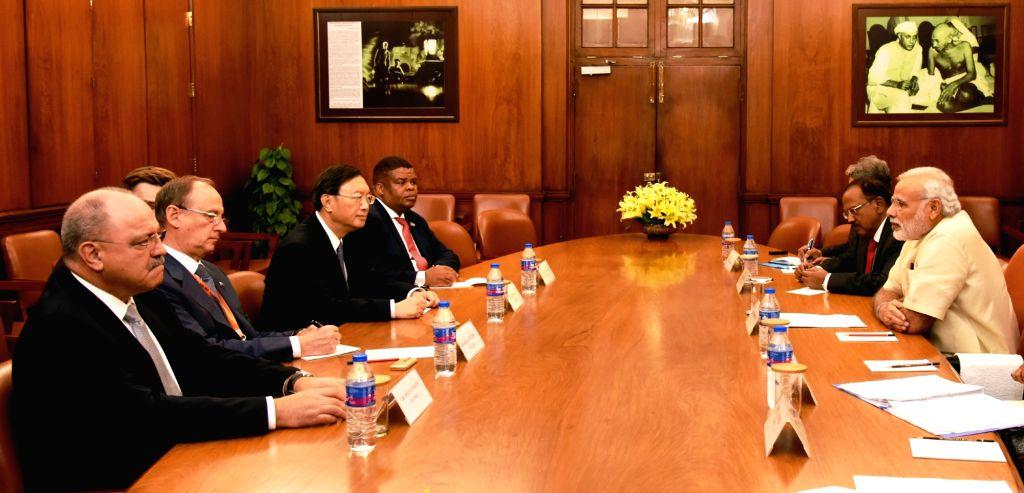 BRICS NSAs calls on Prime Minister Narendra Modi in New Delhi on Sept 15, 2016. - Narendra Modi