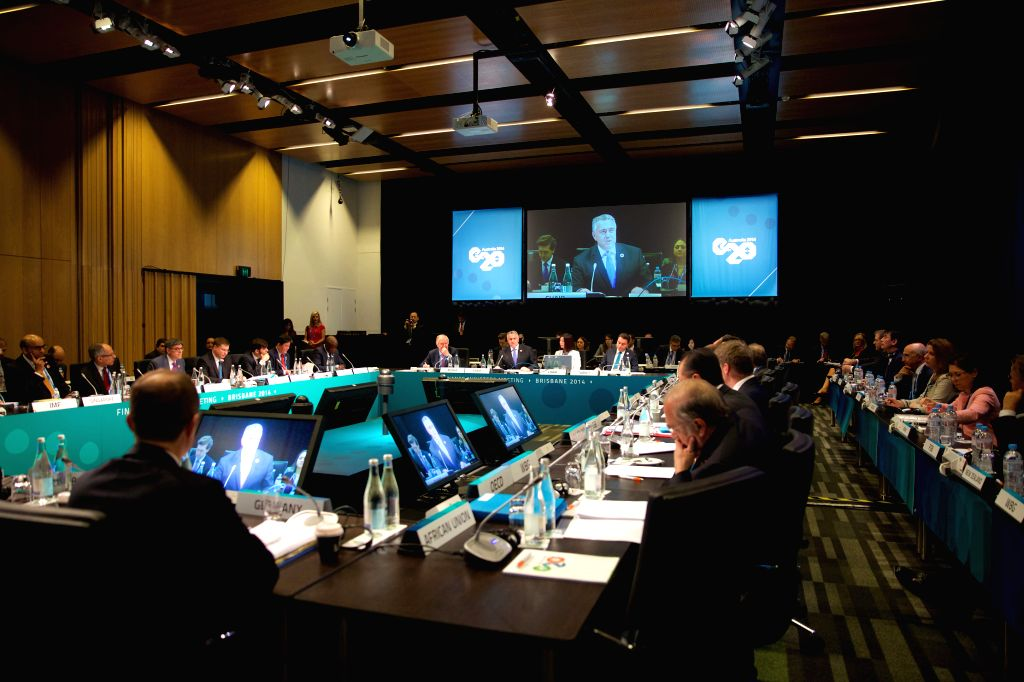The G20 Finance Ministers Meeting is held on Nov. 15, 2014, in Brisbane, Australia. - Meeting