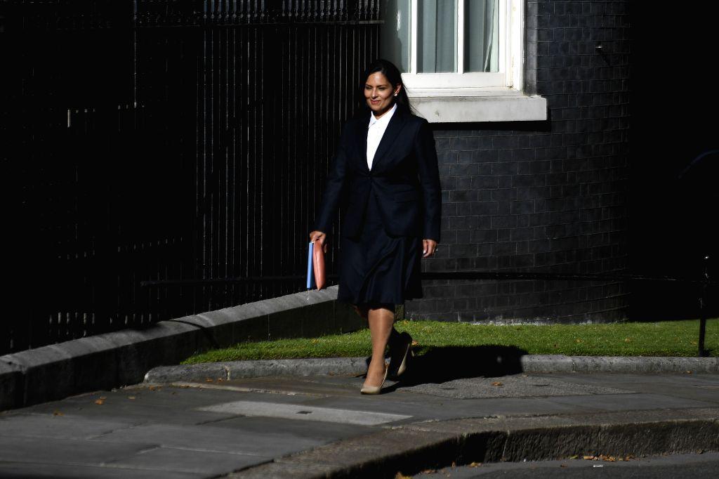 Britain's Home Secretary Priti Patel - Secretary Priti Patel