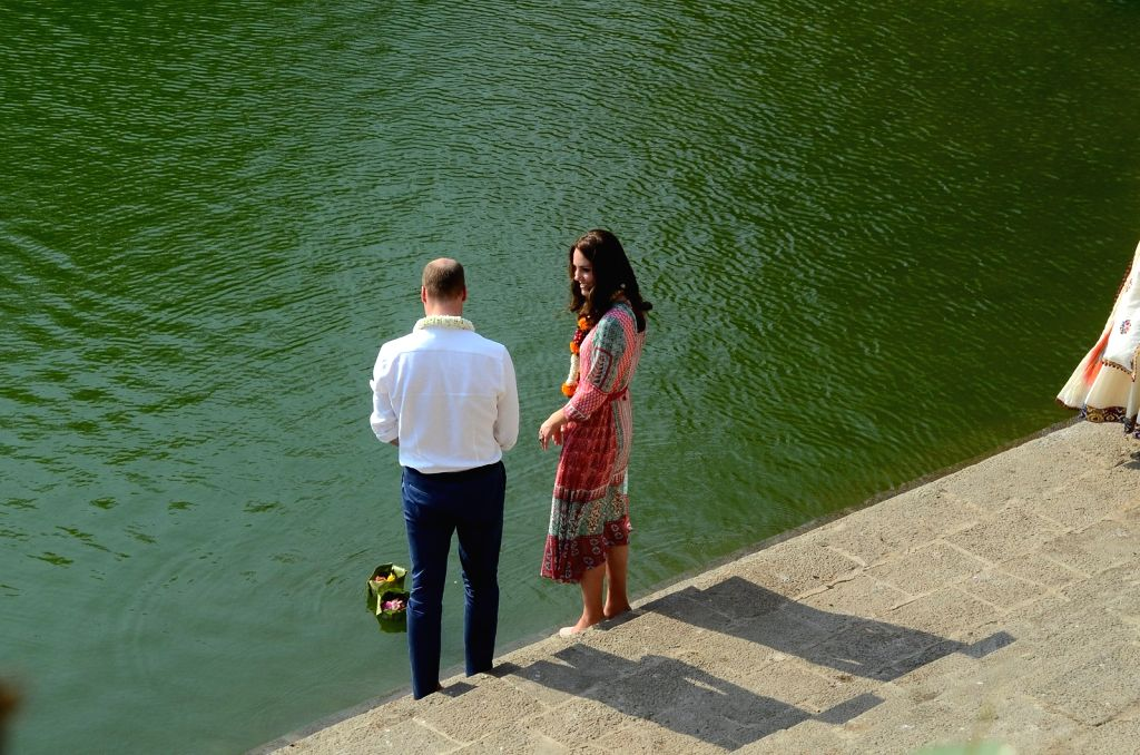 Britain`s Prince William along with wife Kate, the Duchess of Cambridge visit Banganga tank in Mumbai, on April 10, 2016.