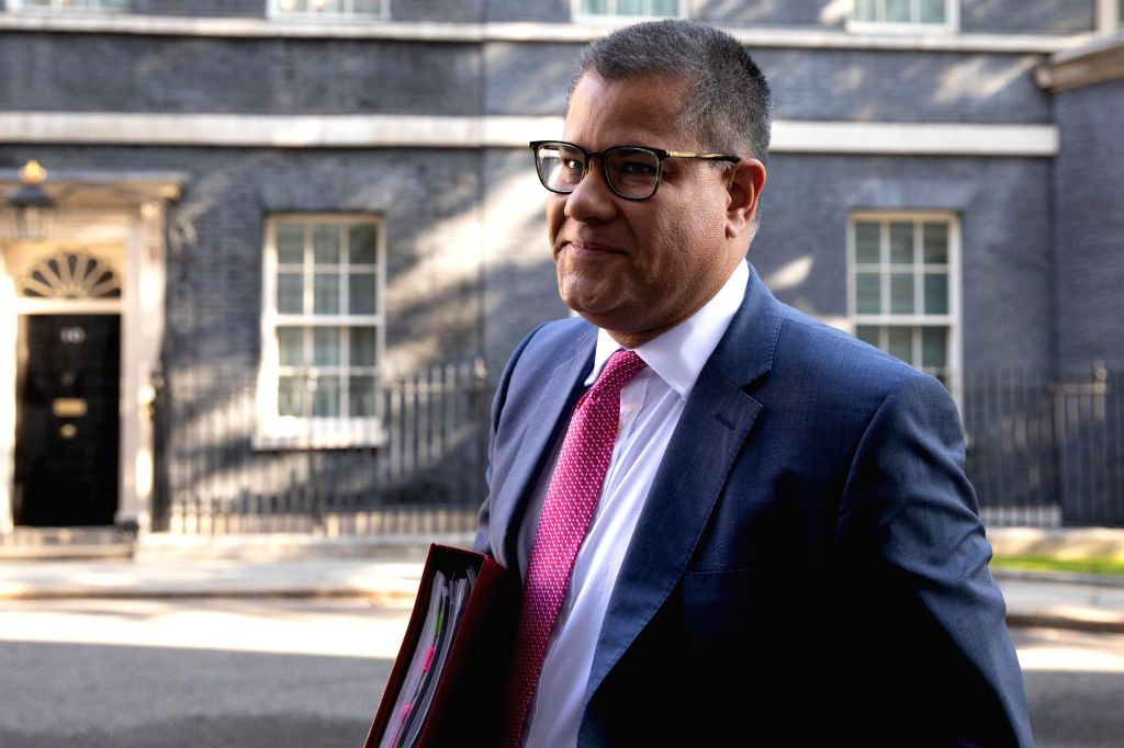 Britain's Secretary of State for Business, Energy and Industrial Strategy Alok Sharma arrives for a cabinet meeting in London, Britain, on Sept. 1, 2020. - Strategy Alok Sharma