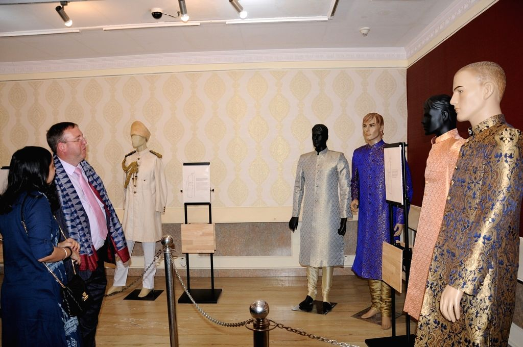 British Deputy High Commissioner Andrew Fleming at the inauguration of exhibition on Sherwani as part of the Hyderabad Design Week that began at Salar Jung Museum, on Oct 9, 2019.