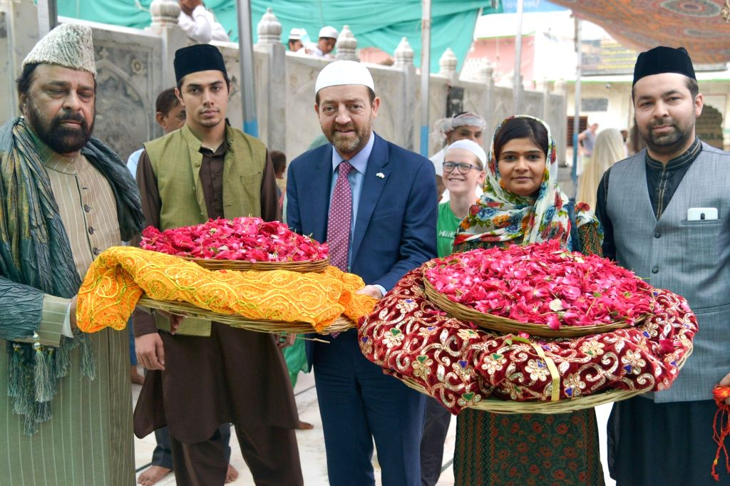 British Deputy High Commissioner Geoff Wain during his visit to the Ajmer Sharif Dargah ahead of holding Interfaith dialogue, on July 24, 2018.