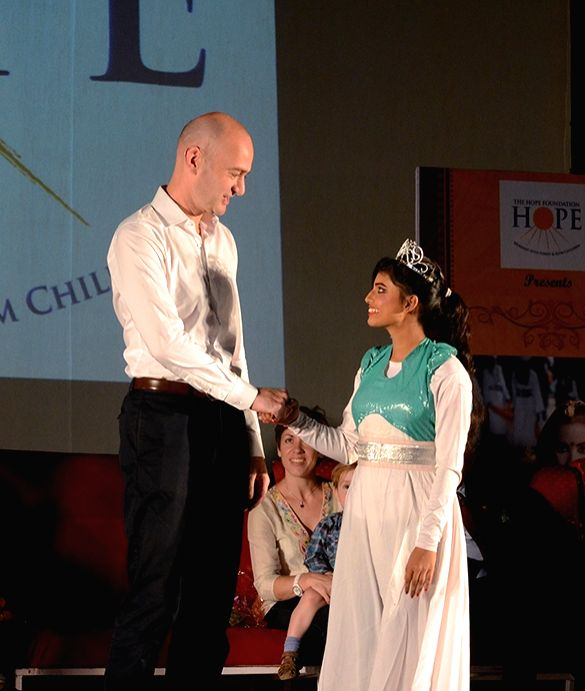 British Deputy High Commissioner Scott Furssedonn Wood during the 16th Children Annual Cultural programme of The Hope Foundation in Kolkata on Oct 28, 2015.
