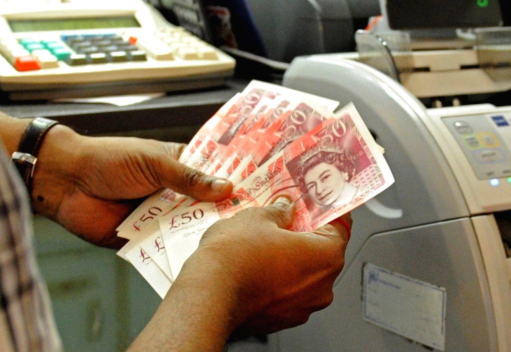 British pound. (File: Xinhua/Then Chih Wey/IANS)