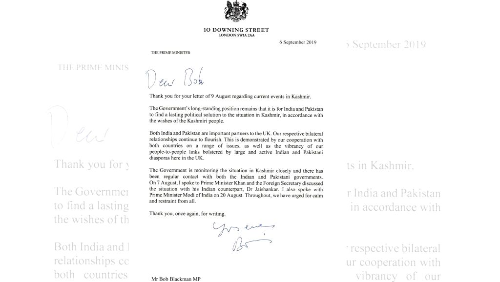 """British Prime Minister Boris Johnson has said that the UK is monitoring the situation in Kashmir closely and wants India and Pakistan to find a """"lasting political solution to the situation in ... - Boris Johnson"""