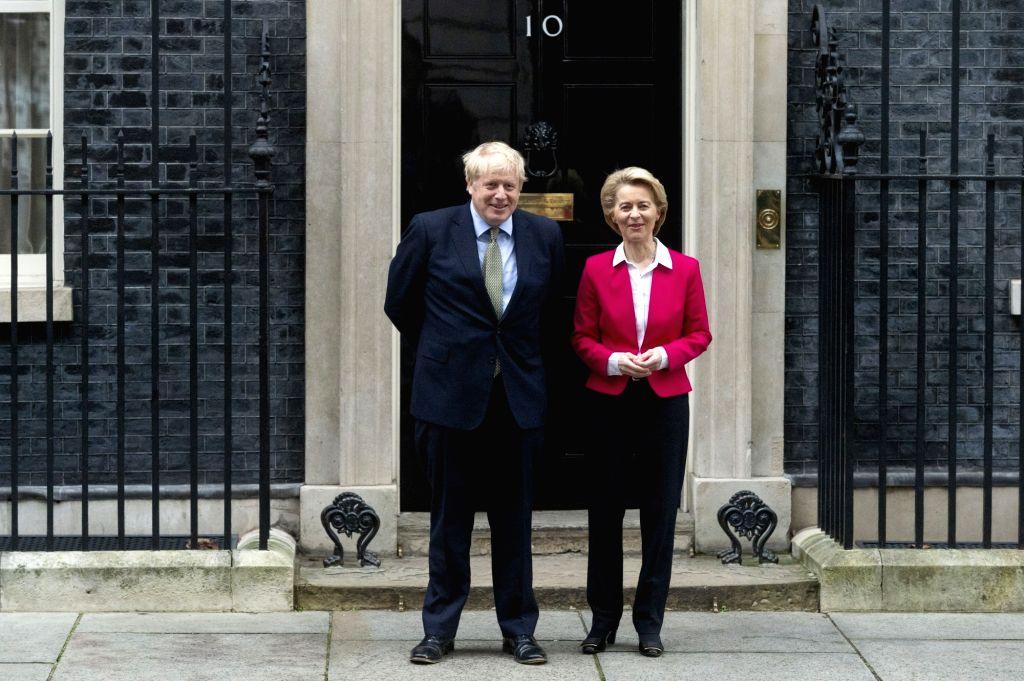 British Prime Minister Boris Johnson (L) meets with European Commission President Ursula von der Leyen in London, Britain, Jan. 8, 2020. The European Union is ready ... - Boris Johnson