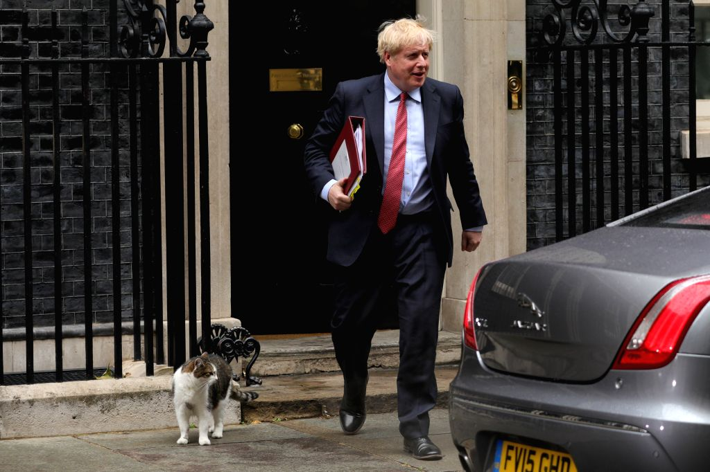 British Prime Minister Boris Johnson leaves 10 Downing Street for Prime Minister's Questions at the House of Commons in London, Britain, on July 8, 2020. The British ... - Boris Johnson