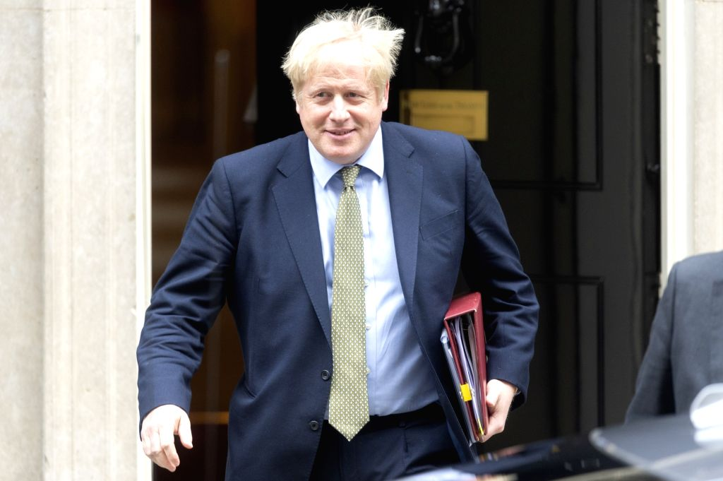 British Prime Minister Boris Johnson leaves Downing Street to attend the Prime Minister's Questions in Parliament in London, Britain, Jan. 8, 2020. - Boris Johnson