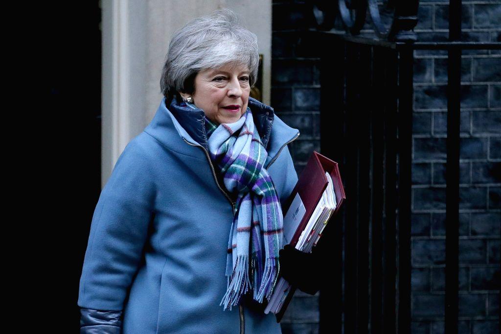 British Prime Minister Theresa May . (Xinhua/Tim Ireland/IANS) - Theresa May