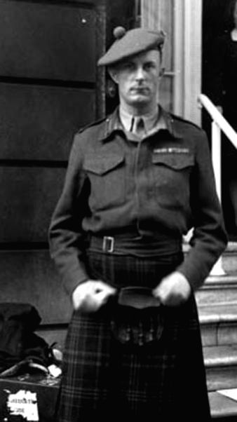 British soldier Fitzroy Maclean during the Second World War