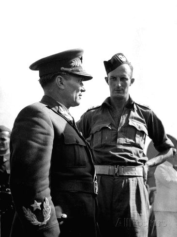 British soldier Fitzroy Maclean with Yugoslav Partisan leader Tito during the Second World War