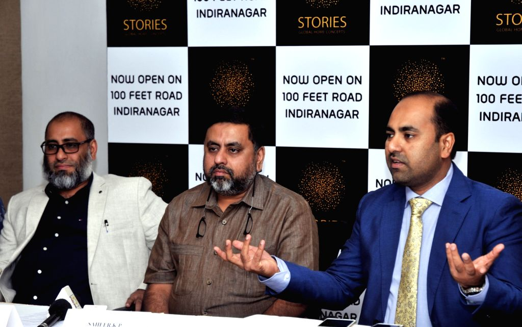 Bronet Founder KP Abdul Saheer and Group Chairman KP Haris during a press conference in Bengaluru on Oct 12, 2016.