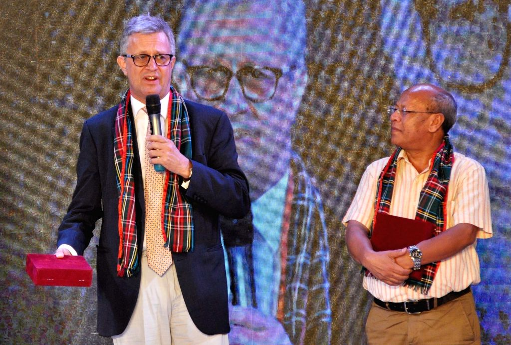 Bruce Bucknell, British Deputy High Commissioner, Kolkata and Meghalaya Deputy Chief Minister during National Pageant India 2019 in Kolkata on July 20, 2019.