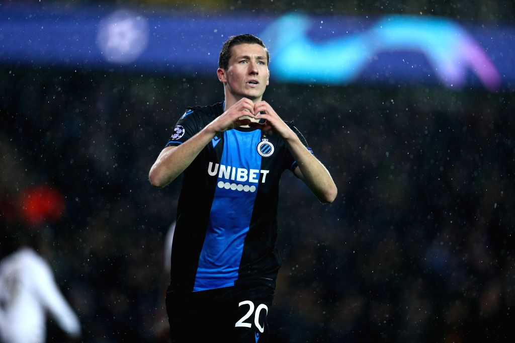 BRUGGE, Dec. 12, 2019 - Hans Vanaken of Club Brugge celebrates his goal during a Group A match of the 2019-2020 UEFA Champions League between Club Brugge and Real Madrid in Brugge, Belgium, Dec. 11, ...