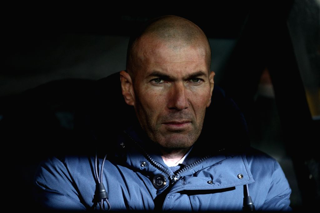 BRUGGE, Dec. 12, 2019 - Real Madrid's head coach Zinedine Zidane looks on before a Group A match of the 2019-2020 UEFA Champions League between Club Brugge and Real Madrid in Brugge, Belgium, Dec. ...