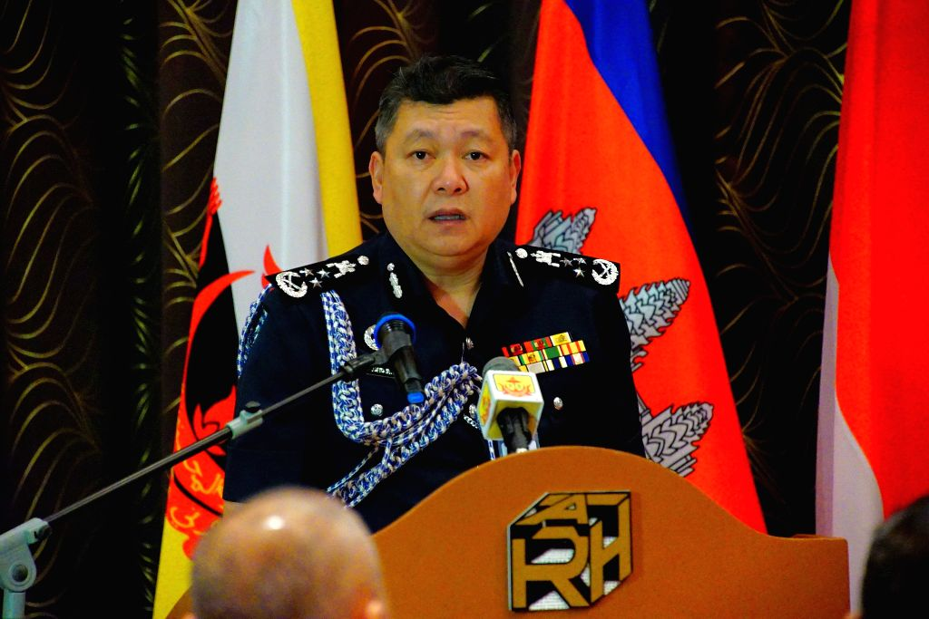 Brunei's Police Commissioner Mohammad Irwan gives a keynote speech at the 28th Joint ASEAN Senior Police Officers' Course in Bandar Seri Begawan, ...