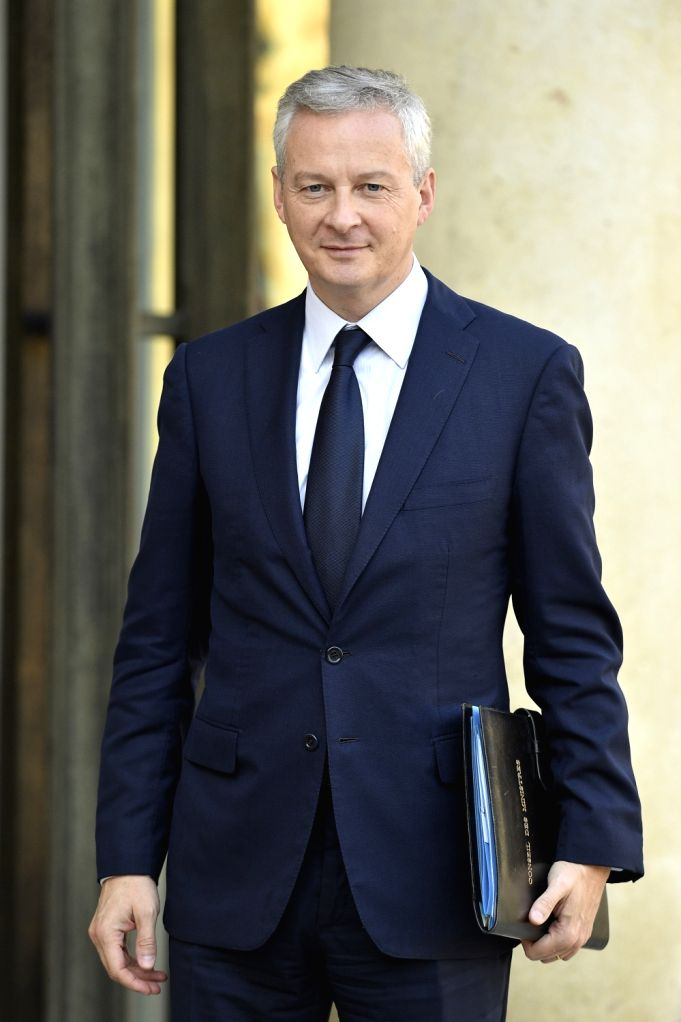 : Bruno Le Maire, Finance Minister, arrives at the Elysee Palace to attend the cabinet meeting in Paris, France on Oct. 17, 2018.   .