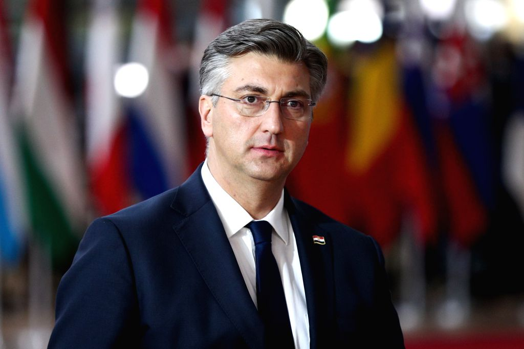 BRUSSELS, Dec. 12, 2019 - Croatian Prime Minister Andrej Plenkovic arrives for the EU summit at the EU headquarters in Brussels, Belgium, Dec. 12, 2019. During the two-day meetings, leaders of EU ... - Andrej Plenkovic