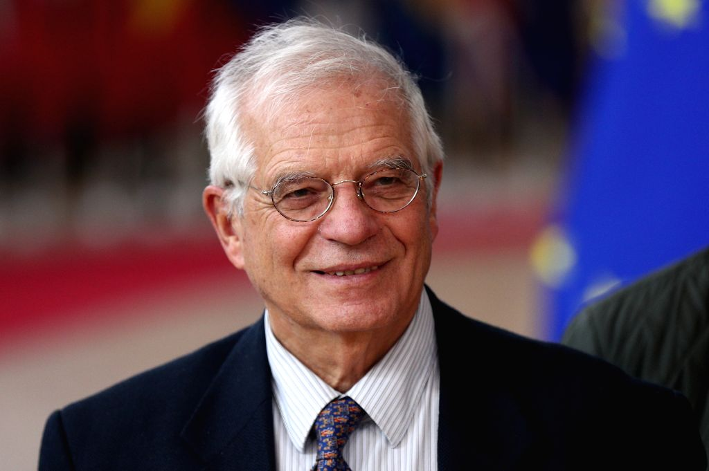 BRUSSELS, Dec. 12, 2019 - Josep Borrell Fontelles, High Representative of the EU for Foreign Affairs and Security Policy, arrives for the EU summit at the EU headquarters in Brussels, Belgium, Dec. ...