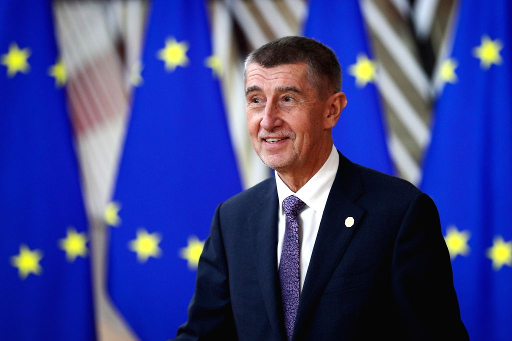 BRUSSELS, Dec. 12, 2019 - Prime Minister of Czech Andrej Babis arrives for the EU summit at the EU headquarters in Brussels, Belgium, Dec. 12, 2019. During the two-day meetings, leaders of EU ...