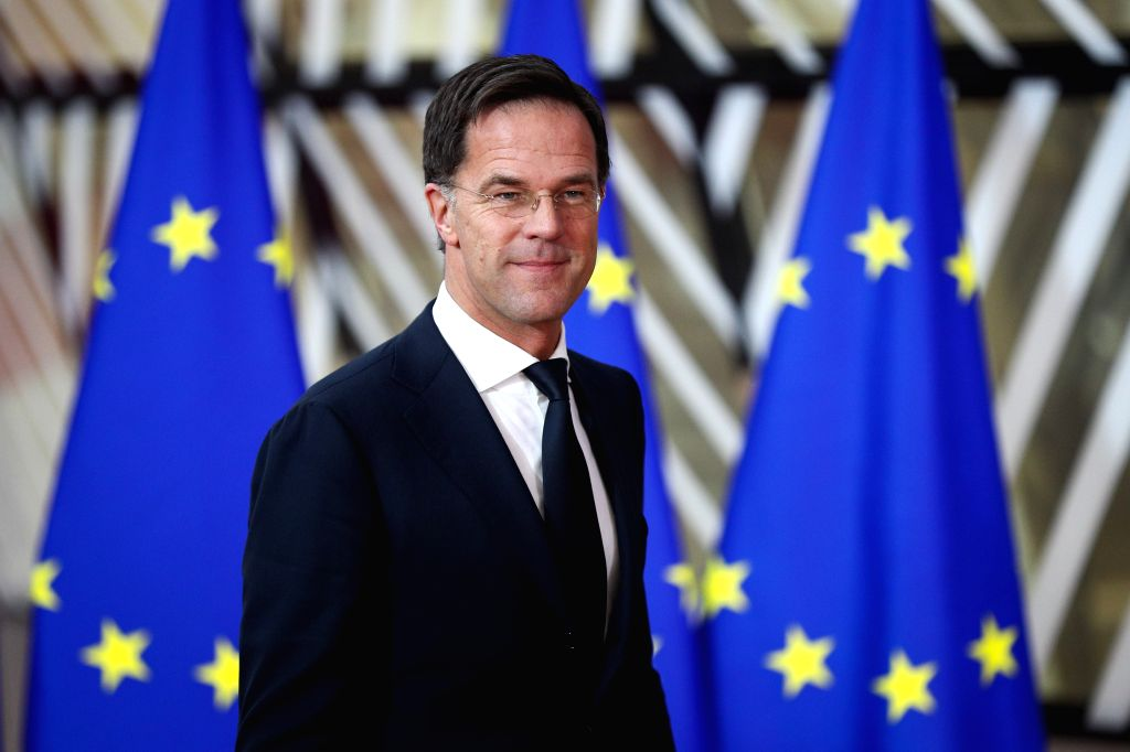 BRUSSELS, Dec. 12, 2019 - The Netherlands Prime Minister Mark Rutte arrives for the EU summit at the EU headquarters in Brussels, Belgium, Dec. 12, 2019. During the two-day meetings, leaders of EU ... - Mark Rutte