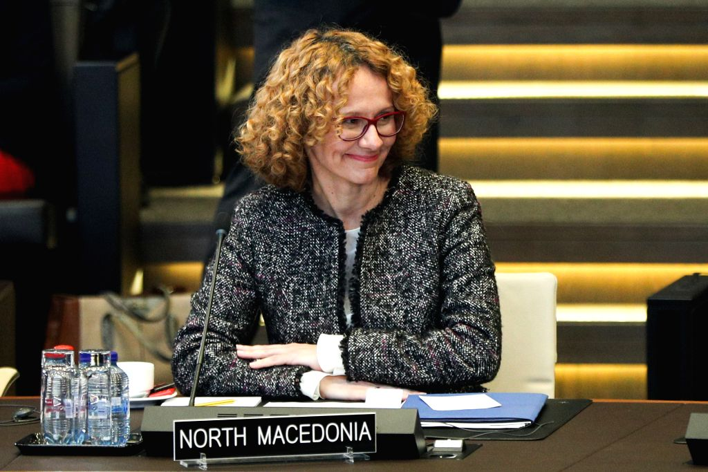 BRUSSELS, Feb. 13, 2019 - Recd, Tks, IANS North Macedonia's Defense Minister Radmila Sekerinska attends the NATO defence ministers meeting at the NATO headquarters in Brussels, Belgium, Feb. 13, 2019. - Radmila Sekerinska