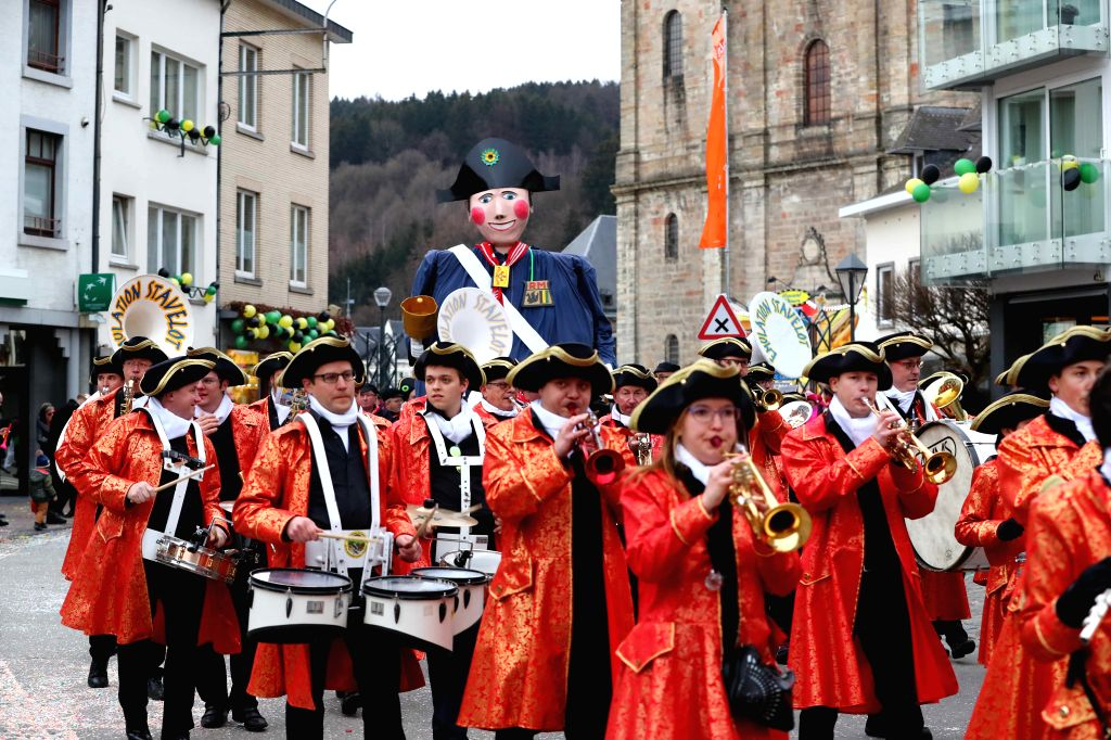 BRUSSELS, Feb. 26, 2017 - People participate in the 559th Malmedy Carnival held in Malmedy, Belgium, on Feb. 25, 2017.