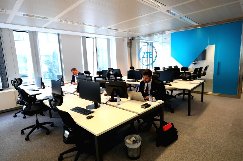 BRUSSELS, July 10, 2019 - Photo taken on July 9, 2019 shows a view of the ZTE Cybersecurity Lab Europe in Brussels, Belgium. Chinese telecom giant ZTE launched its Cybersecurity Lab Europe in ...