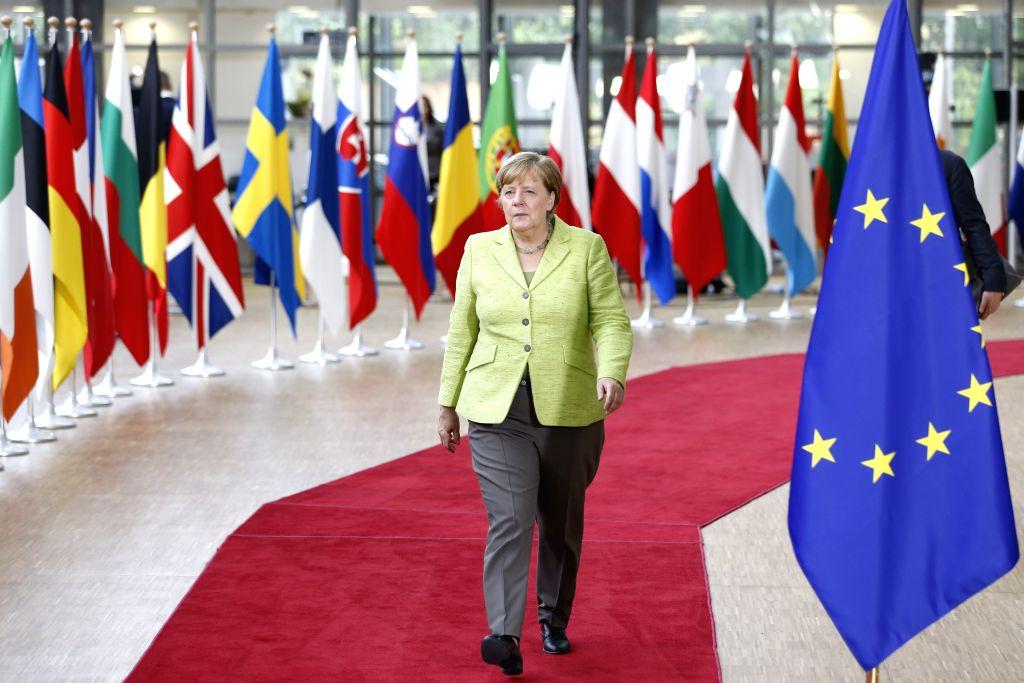 BRUSSELS, June 22, 2017 - German Chancellor Angela Merkel arrives to attend a two-day EU Summit in Brussels, Belgium, June 22, 2017.